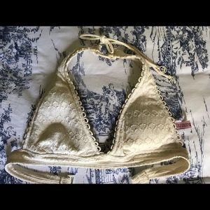 Juicy Couture Sz. Small Crochet/Lace Swim Top